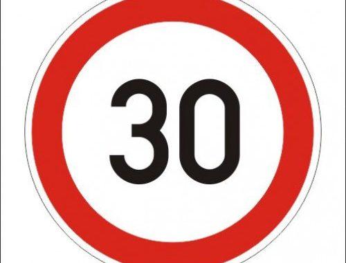 Sebességkorlátozás 30 km per h