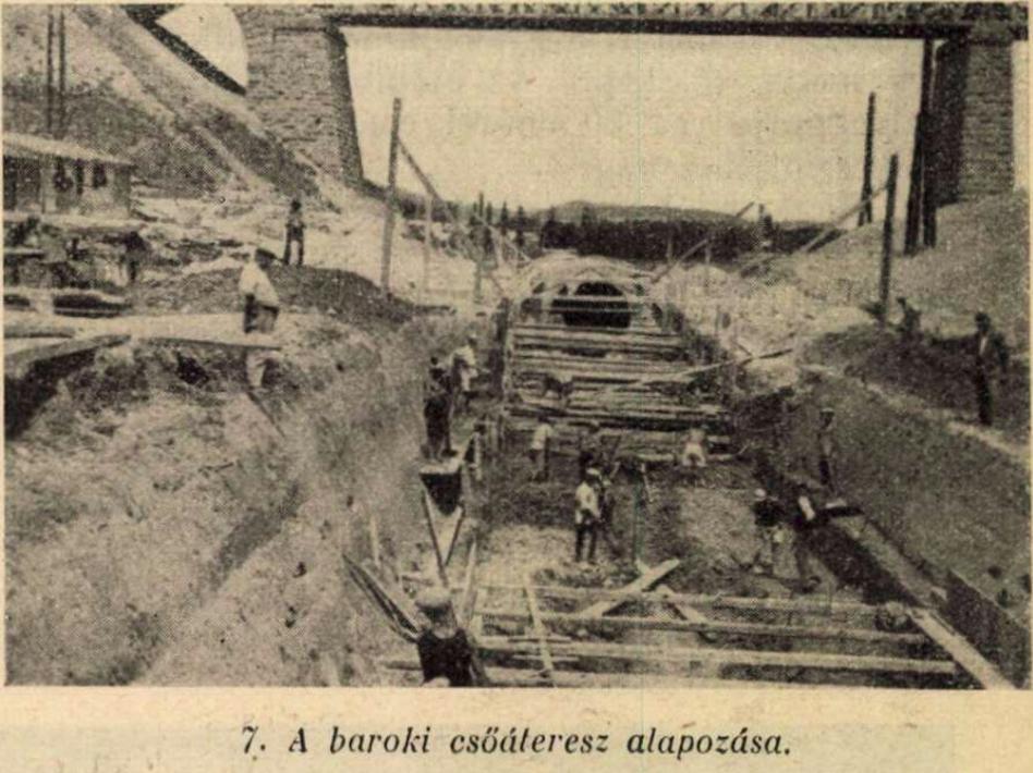 Baroki-csőáteresz-alapozás